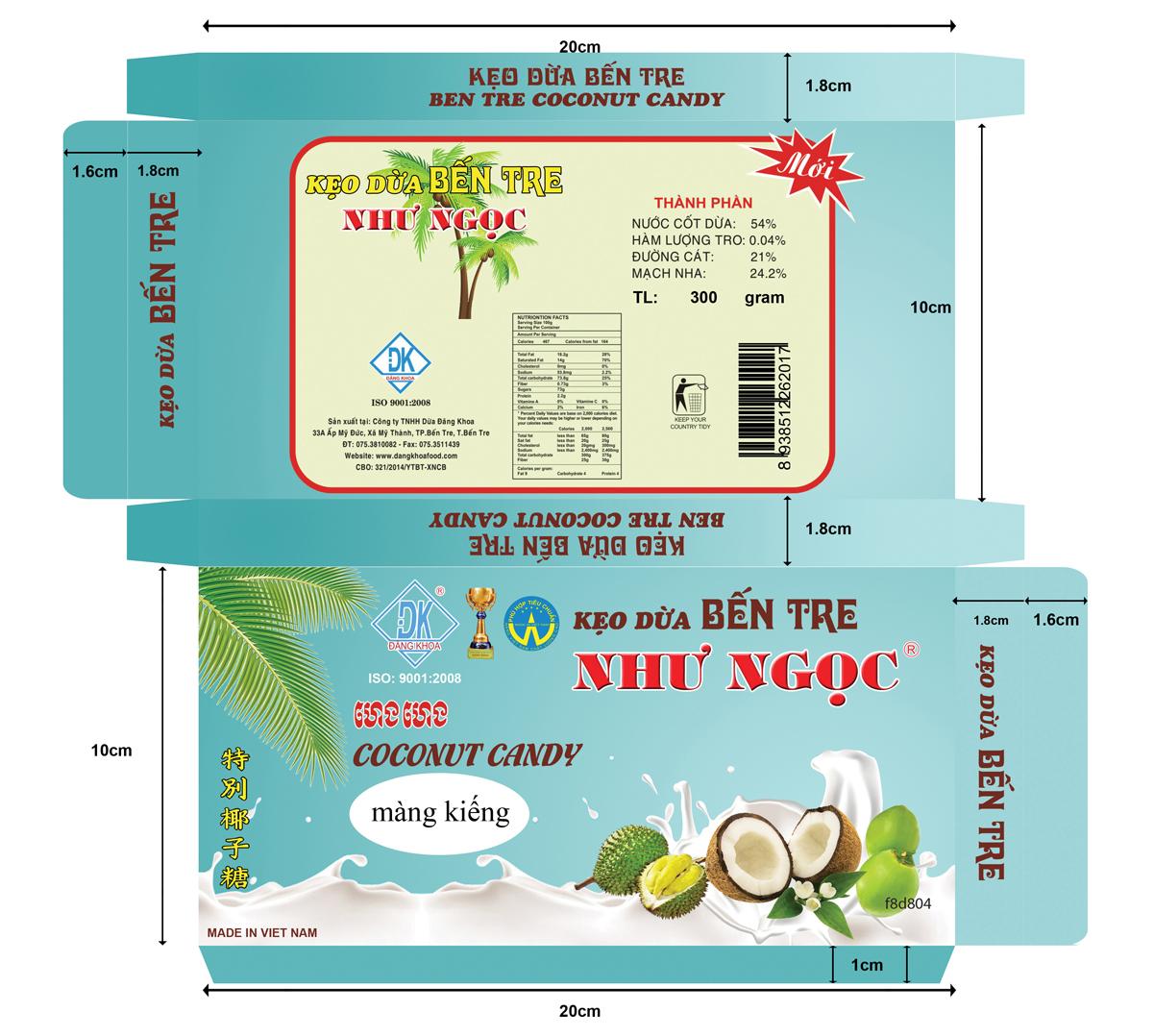 Thiết Kế Bao Bì Kẹo Dừa