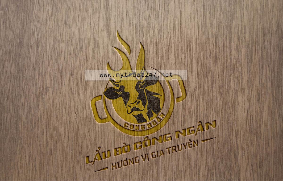 Thiết kế logo Lẩu Bò Công Ngân
