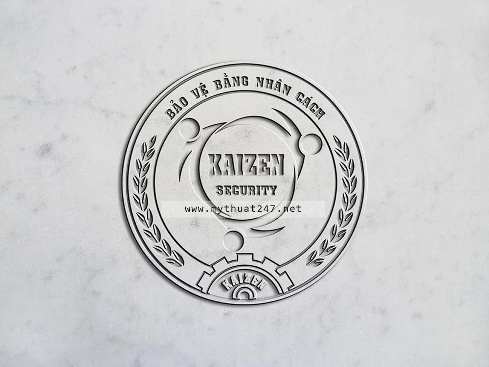 Thiết Kế logo công ty bảo vệ KAIZEN