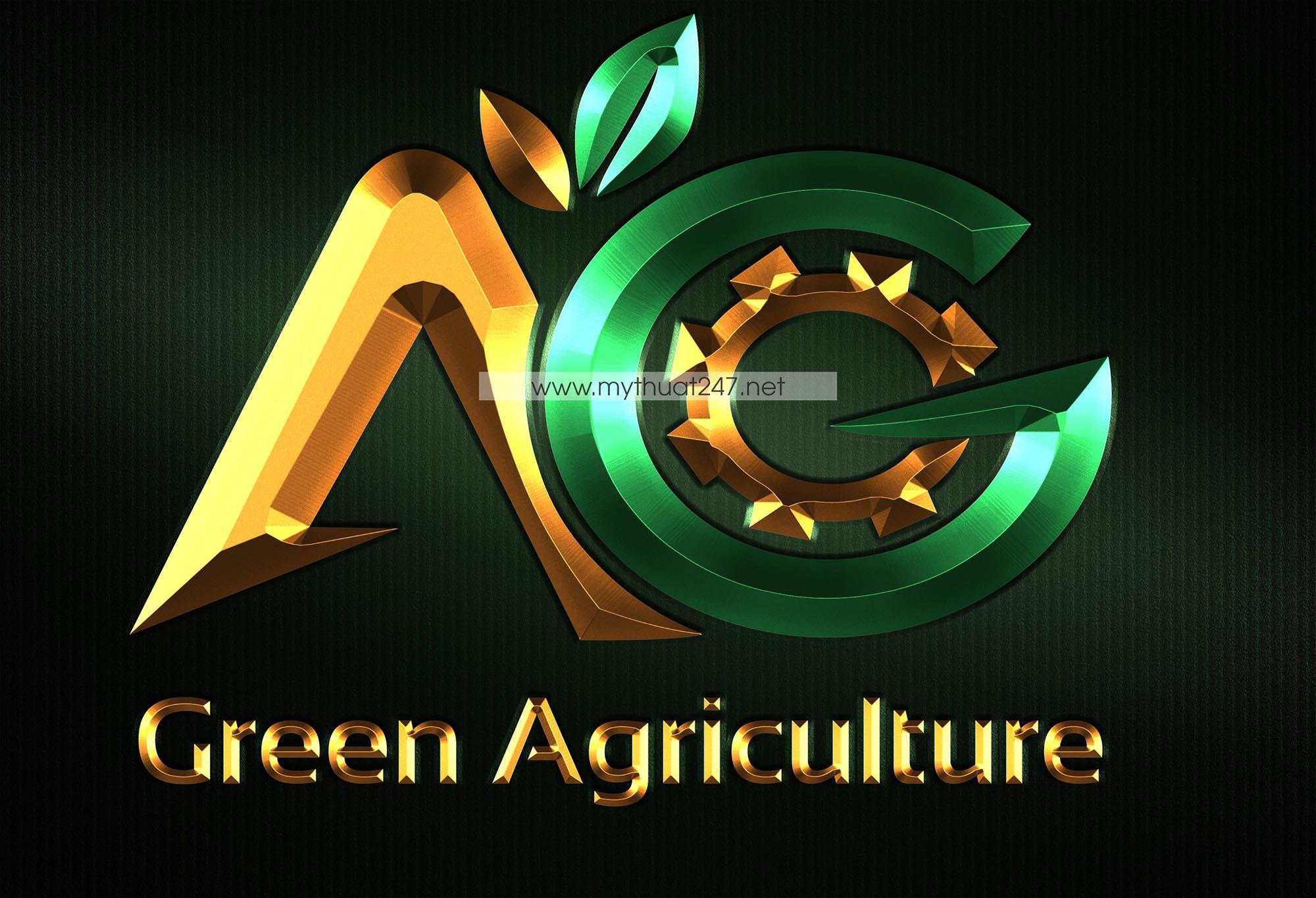 Thiết Kế logo công ty thiết bị nông nghiệp xanh