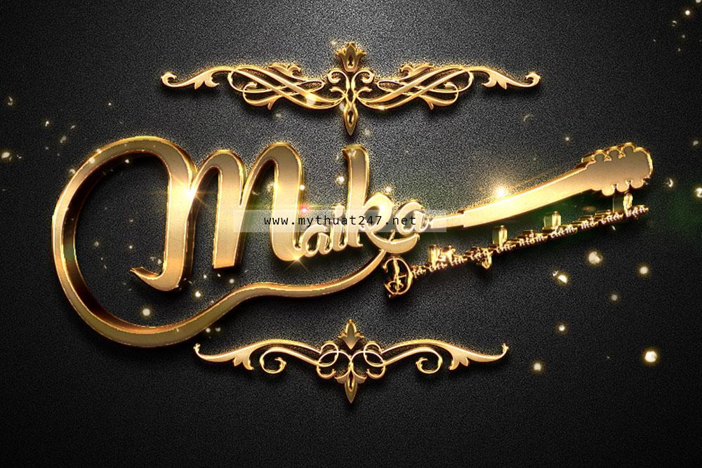 Thiết Kế logo shop đàn guitar maika