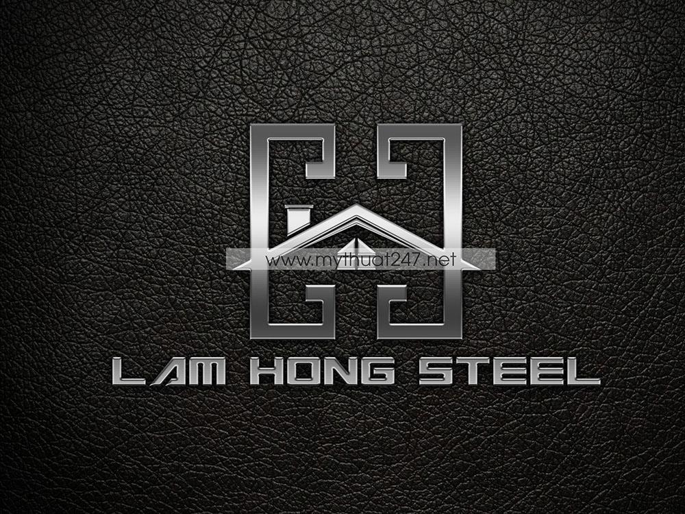 thiet ke logo thep lam hong