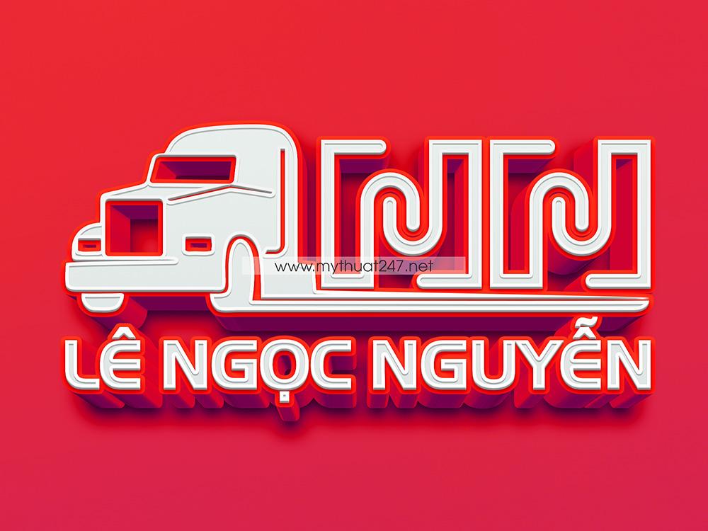 Thiết Kế Logo vận tải lê ngọc nguyễn