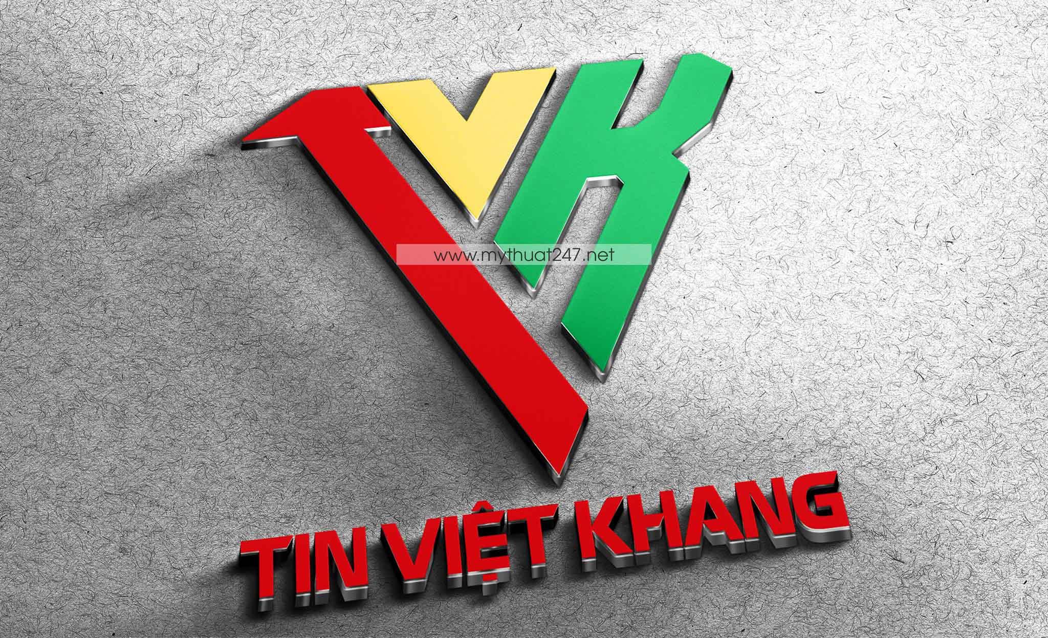 Thiết Kế Logo công ty tin việt khang