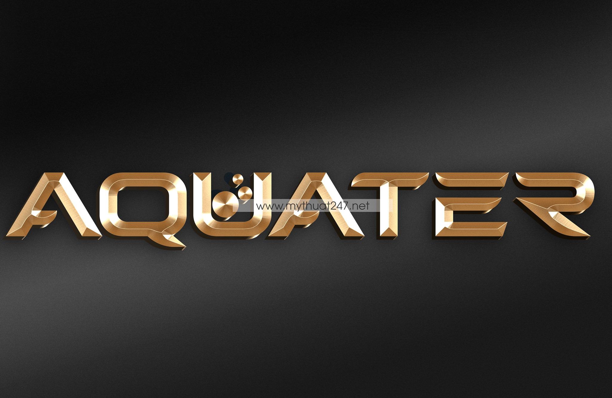 Thiết kế logo nước uống Aquater