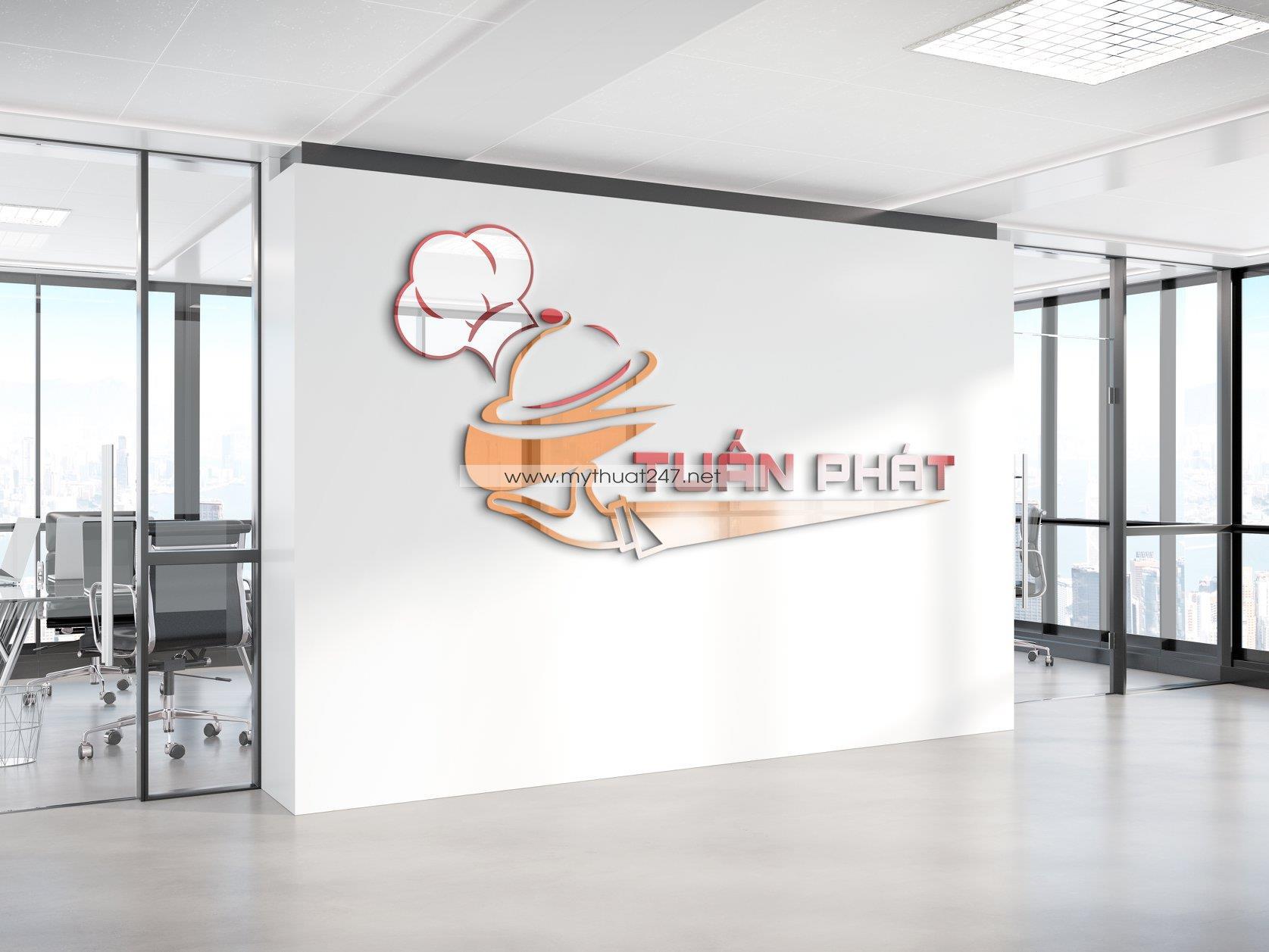 Thiết kế logo suất ăn công nghiệp tuấn phát