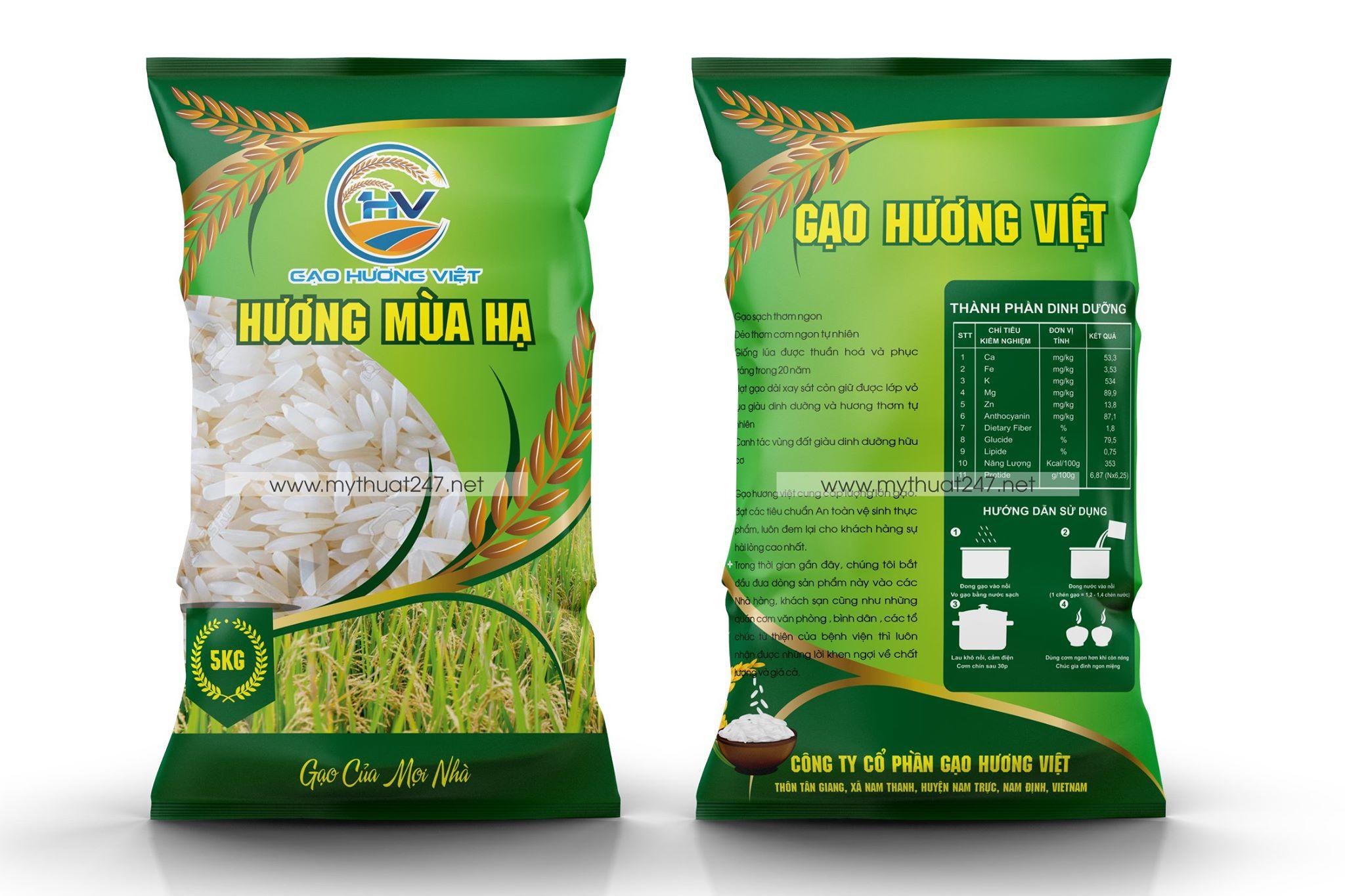 Thiết kế logo công ty cổ phần gạo hương việt