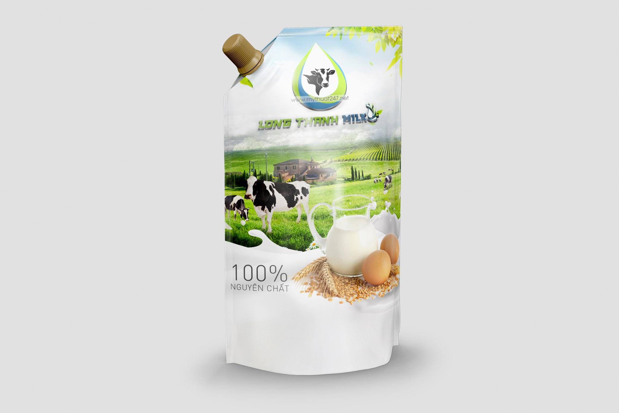 Thiết kế logo công ty long thành milk