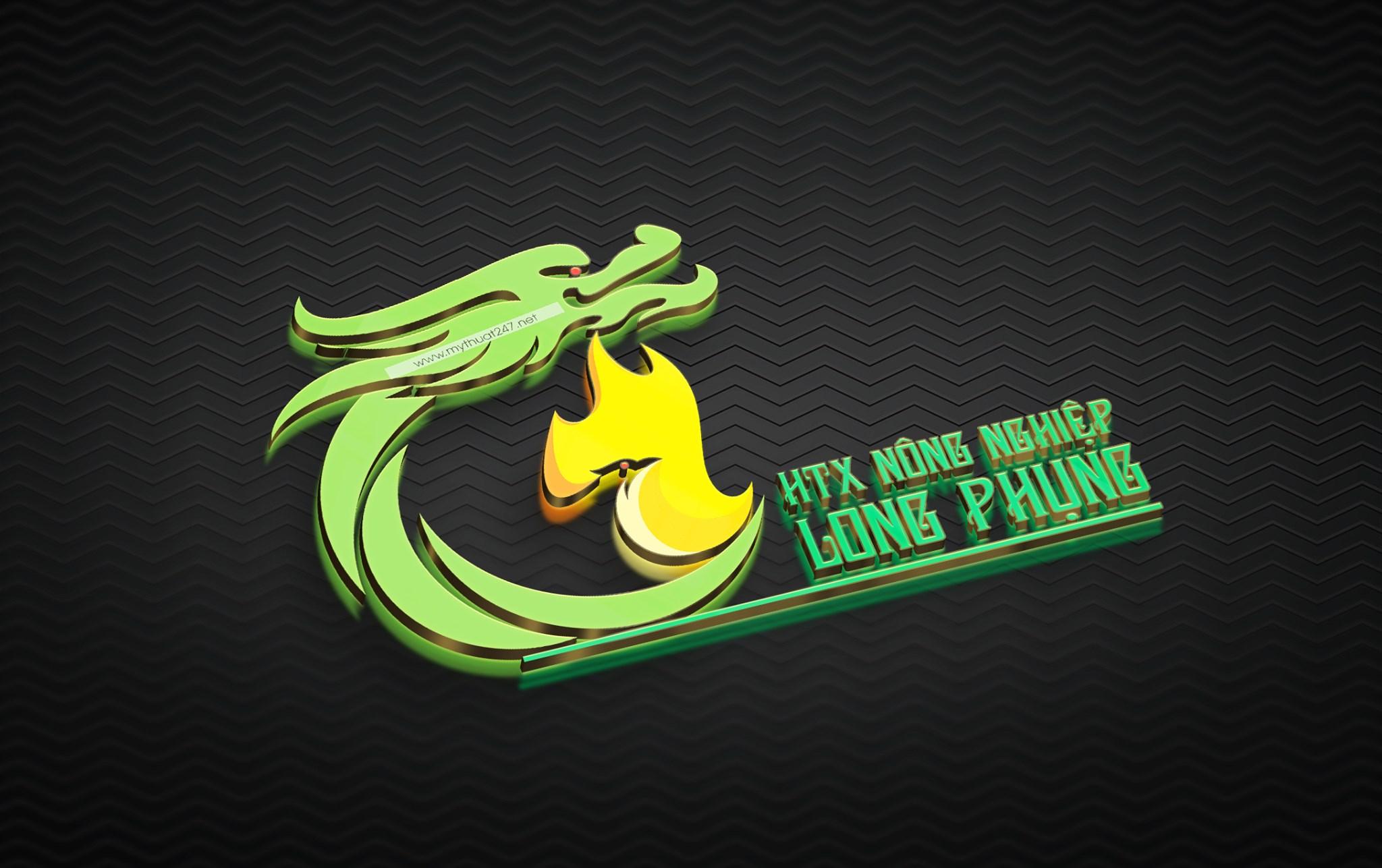 Thiết Kế Logo HTX nông nghiệp long phụng