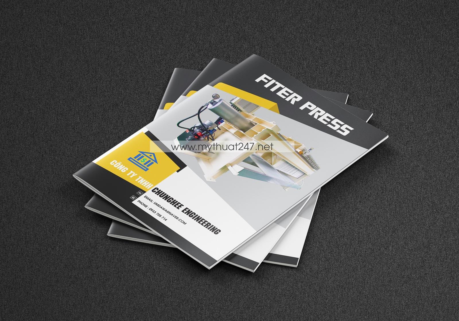 Thiết kế catalogue công ty Chunghee engineering