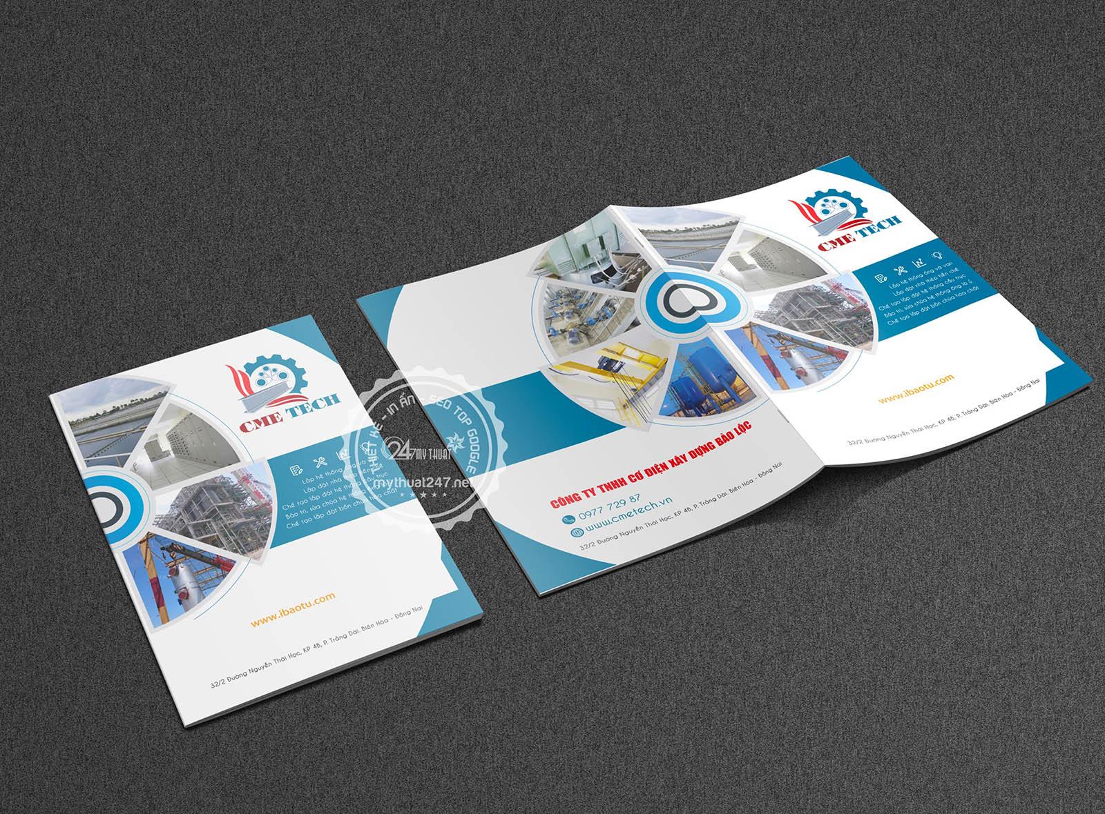 Thiết kế catalogue công ty tnhh cơ điện xây dựng bảo lộc