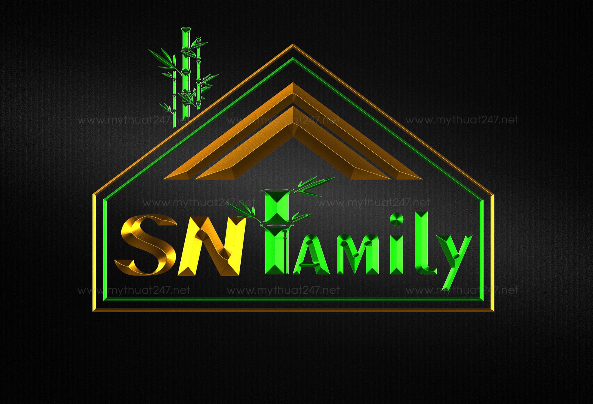 Thiết kế logo công ty xnk đồ tre SNF