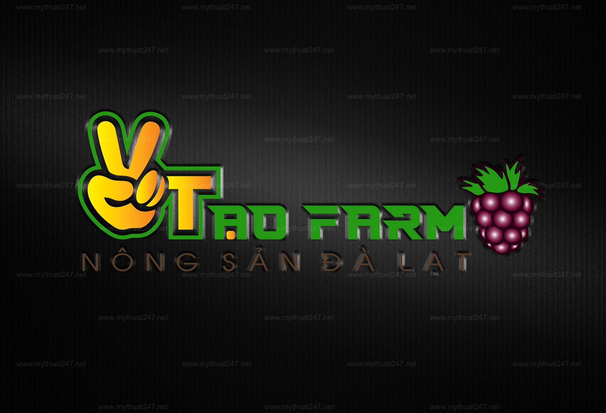 Thiết kế logo trang trại dâu tằm đà lạt 2 tạo farm