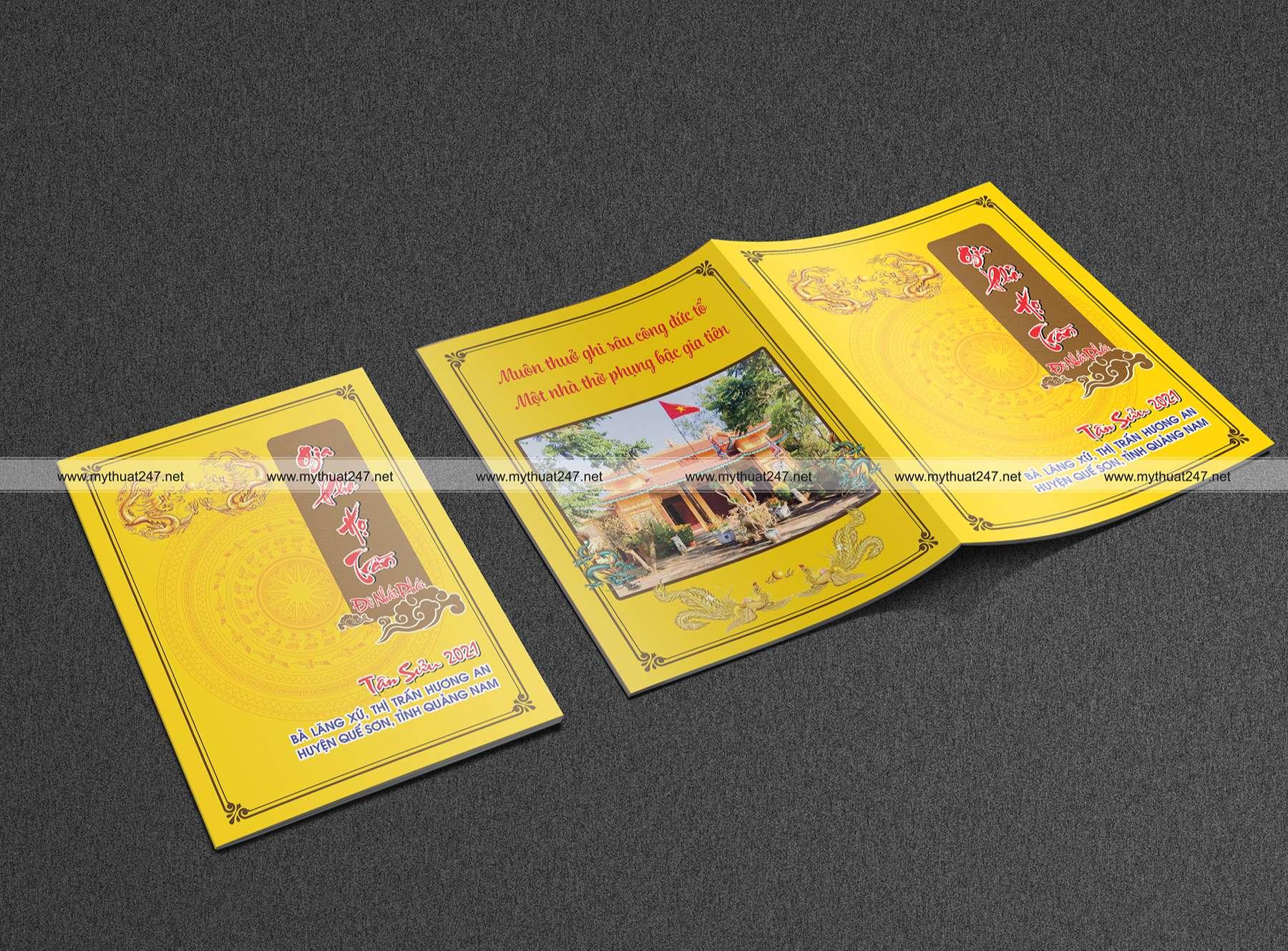 Thiết kê và in ấn gia phả họ Trần