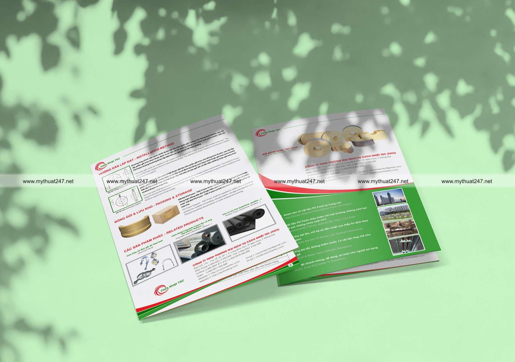 Thiết kế brochure công ty tnhh thương mại dịch vụ cách nhiệt tsc (tsci)