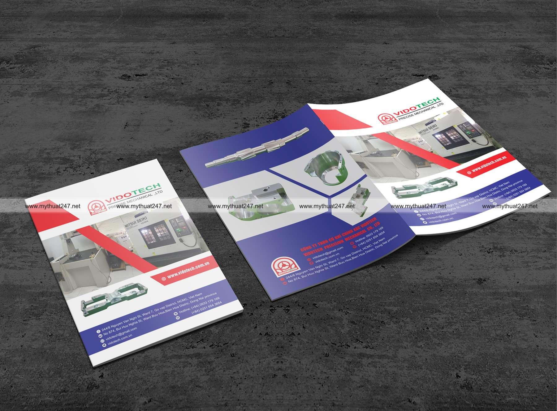 Thiết kế cataloge Công ty tnhh cơ khí chính xác vidotech