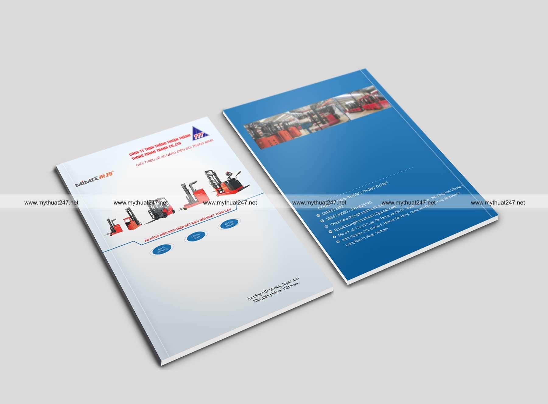 Thiết kế cataloge công ty tnhh thông thuận thành
