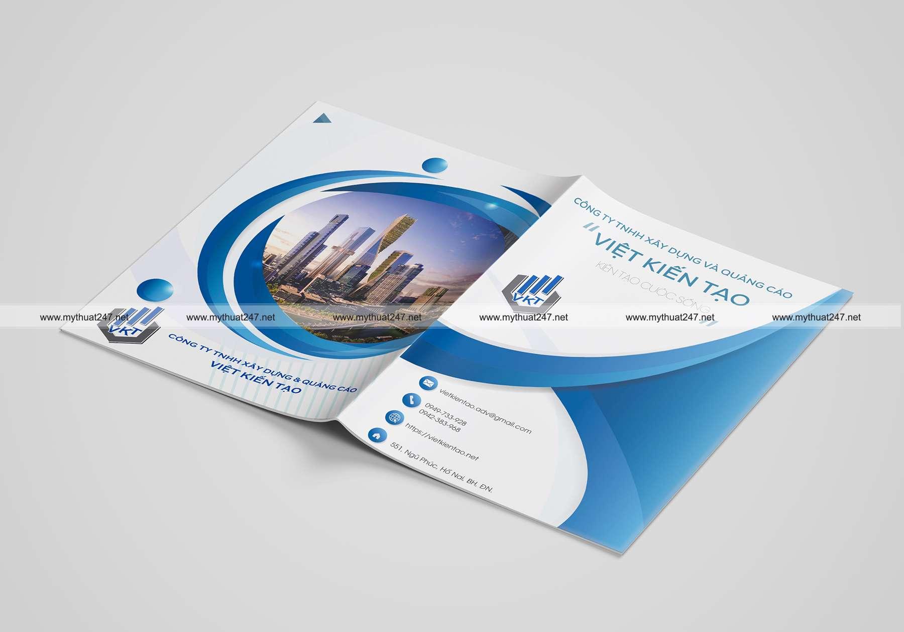 Thiết kế cataloge công ty tnhh xây dựng và quảng cáo việt kiến tạo