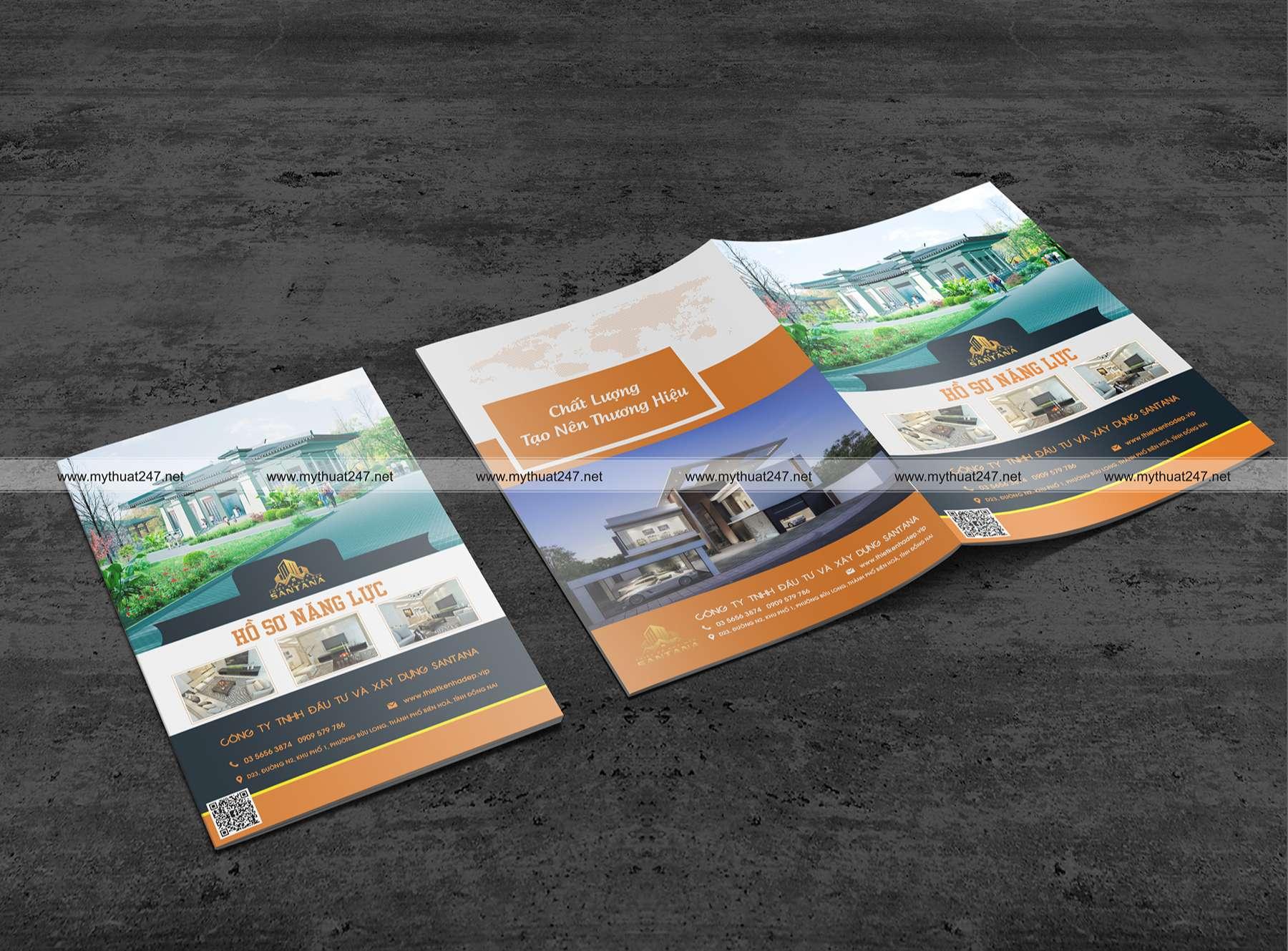 Thiết kế hồ sơ năng lực công ty tnhh đầu tư và xây dựng santana