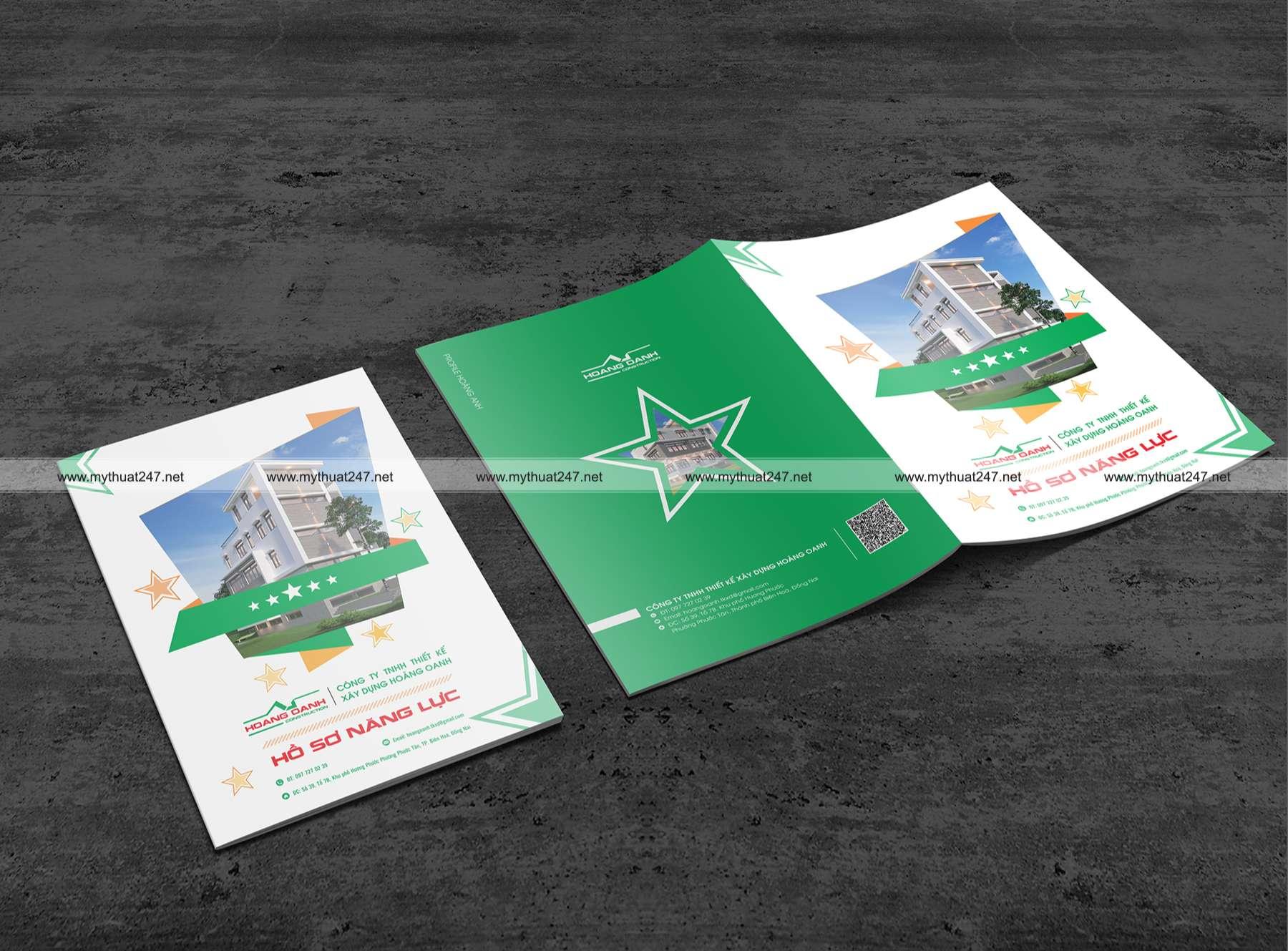Thiết kế hồ sơ năng lực công ty tnhh thiết kế xây dựng hoàng oanh