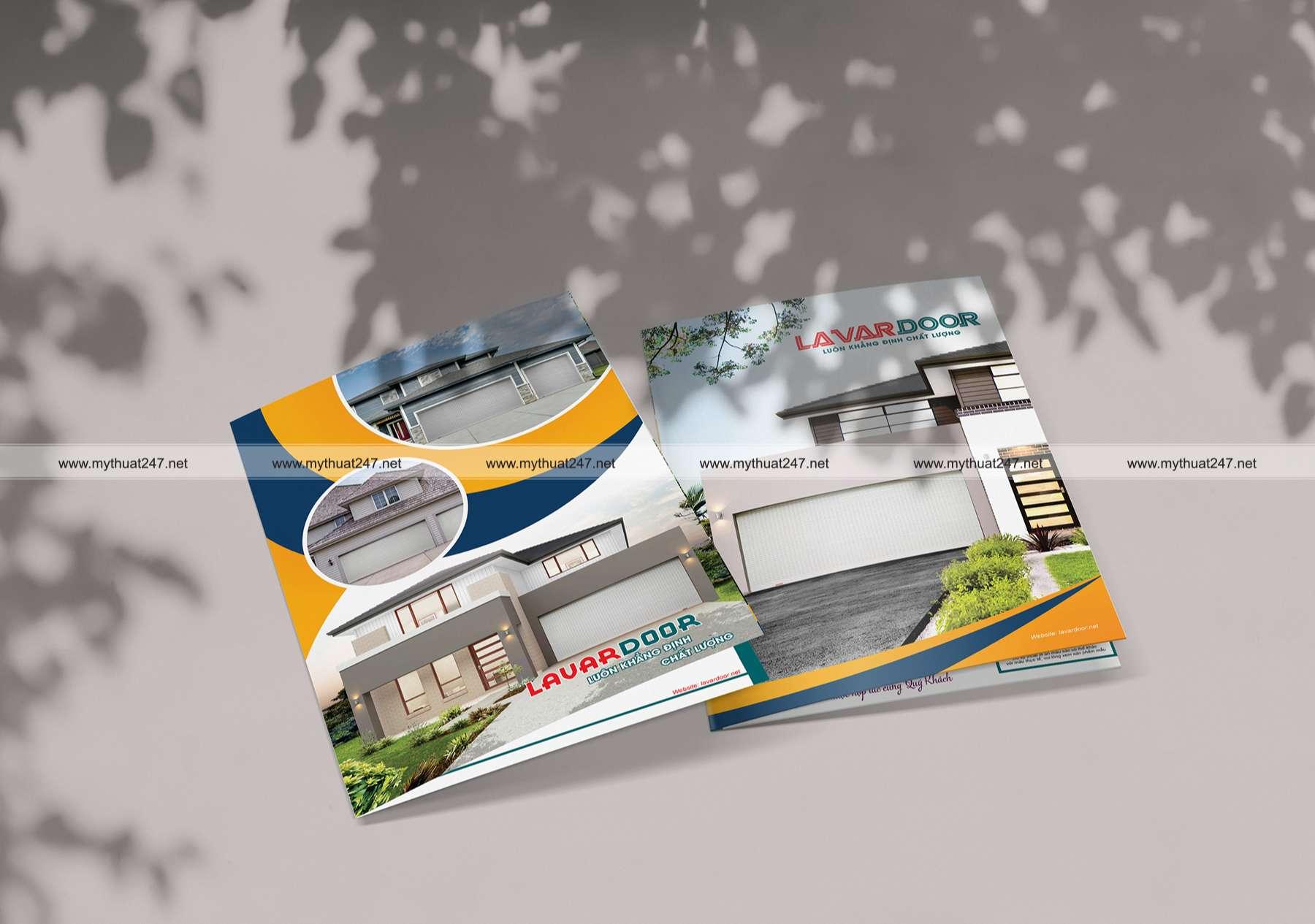 Thiết kế brochure cửa cuốn nhôm khe thoáng công nghệ đức LAVARDOOR