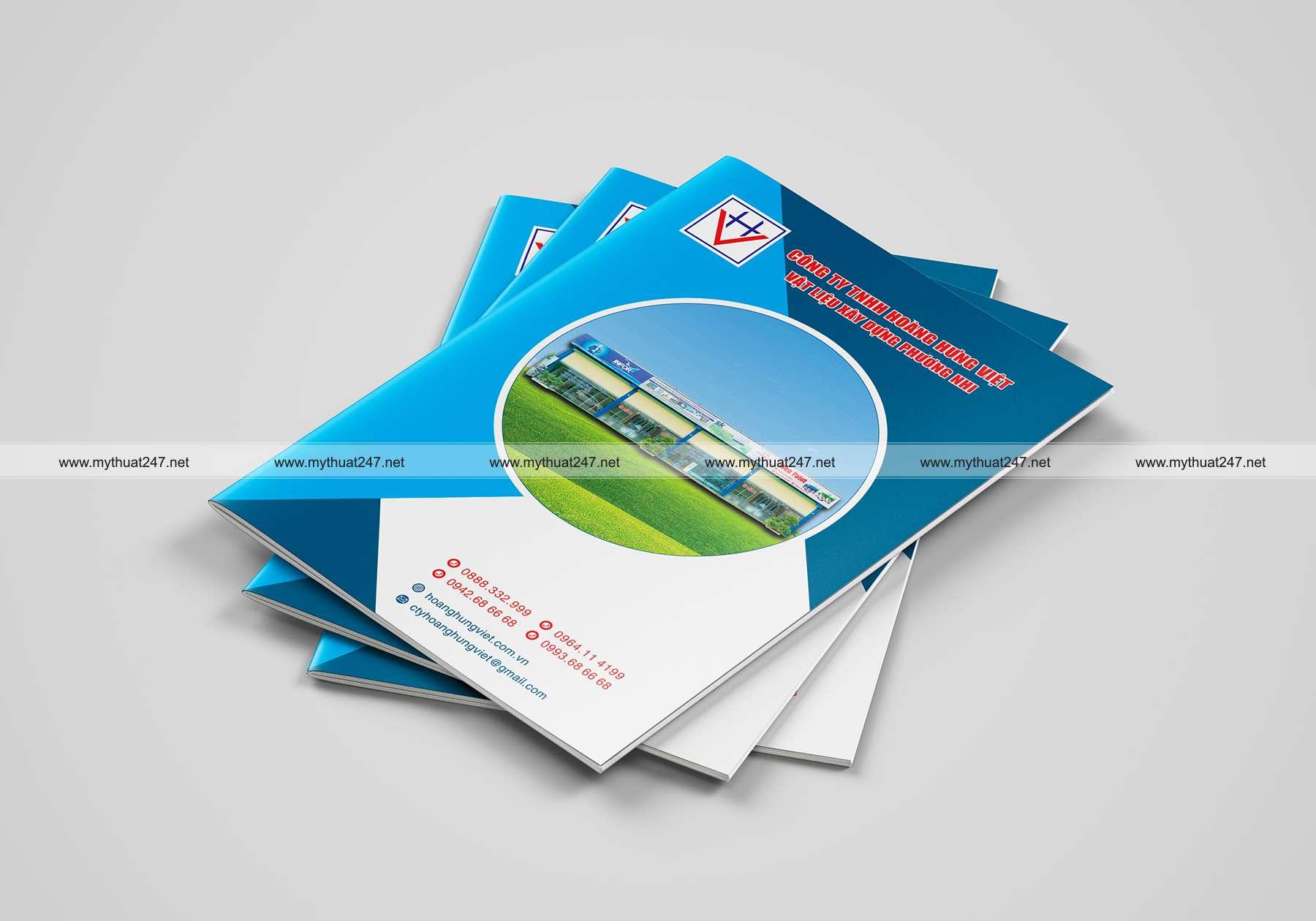 Thiết kế cataloge công ty tnhh hoàng hưng việt - vật liệu xây dựng phương nhi