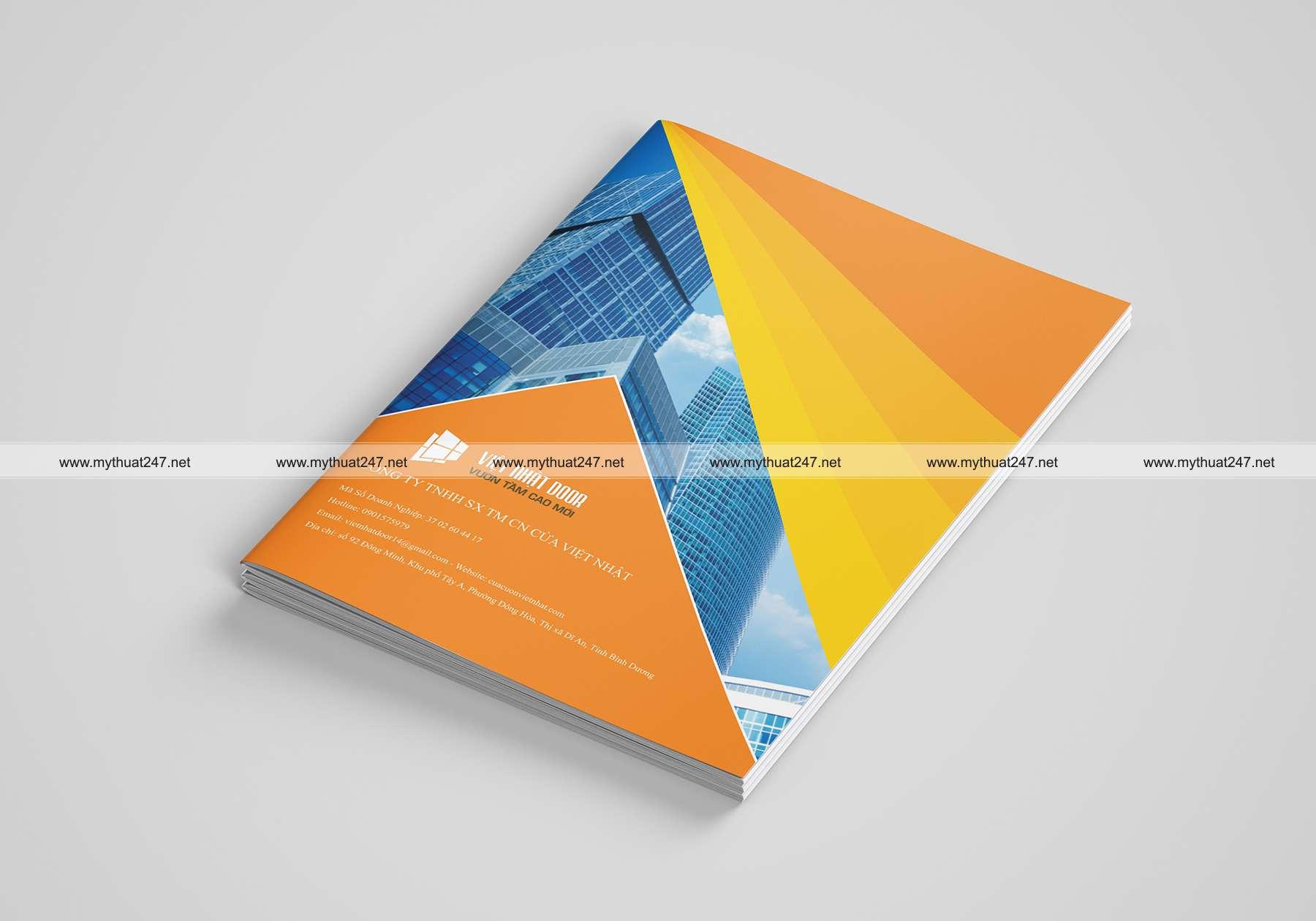 Thiết kế cataloge công ty tnhh sx tm cn cửa việt nhật