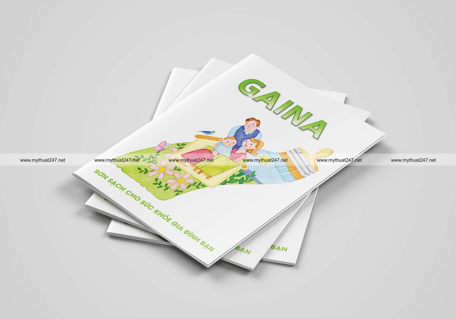 Thiết kế cataloge nhà phân phối sơn gaina